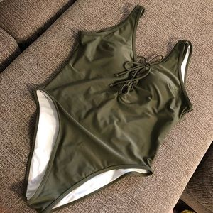 One Piece Swimsuit - Olive Green